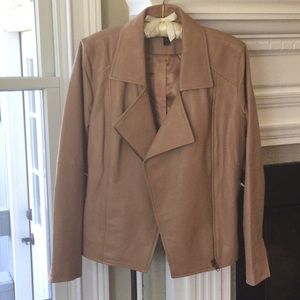 Eileen Fisher brand new leather jacket